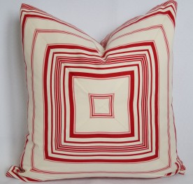 Concentric squares pillow $35 + materials (this design is created with striped fabric)