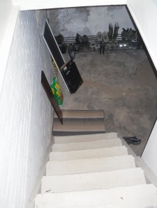 stairwell and mudroom before